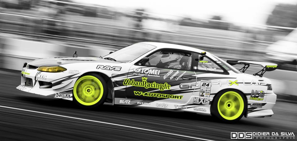 Autoworks Festival 2011 - Bourget - Clément Ponsot Nissan 200sx S14.5 Drift Car W Autosport.jpg