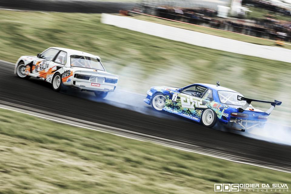 CDF 2014 Round 3 Croix en Ternois - Battle Nicolas Delorme BMW E30 Vs Mike Kauffmann Nissan 200Sx PS13.jpg