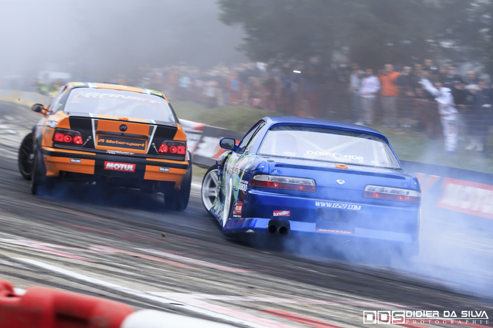 CDF 2014 Round 6 Chamrousse - Battle Jocelin Janin BMW E36 Vs Mike Kauffmann Nissan 200Sx PS13.jpg