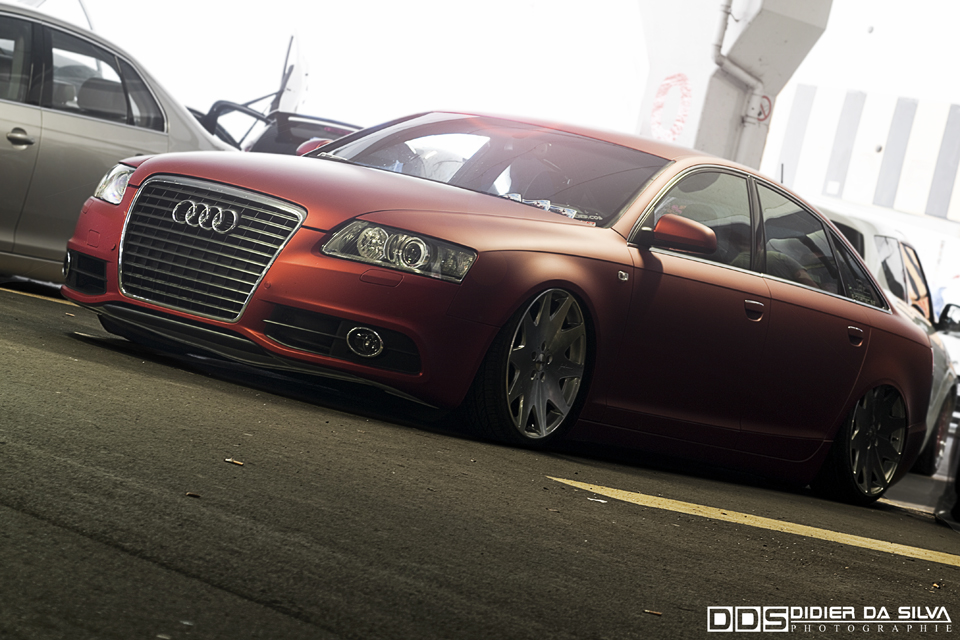 Meeting Anderlecht 2012 Audi A6 orange mat get low.jpg
