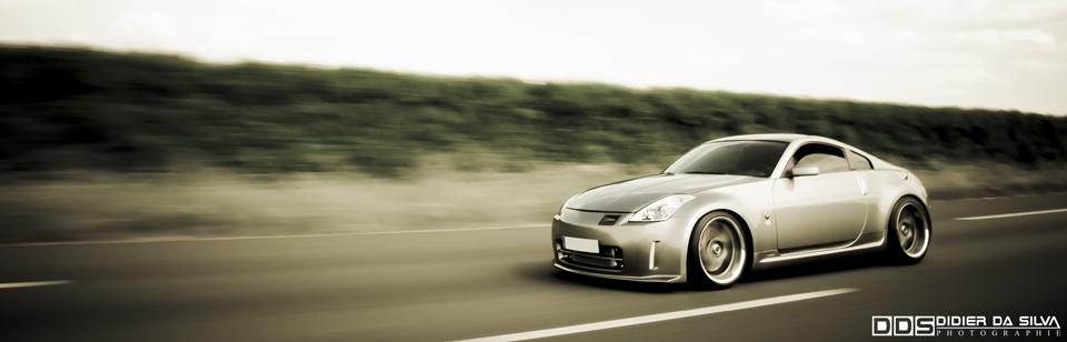 Meeting Seclin 2009 Nissan 350Z compressor Fairlady on road.jpg
