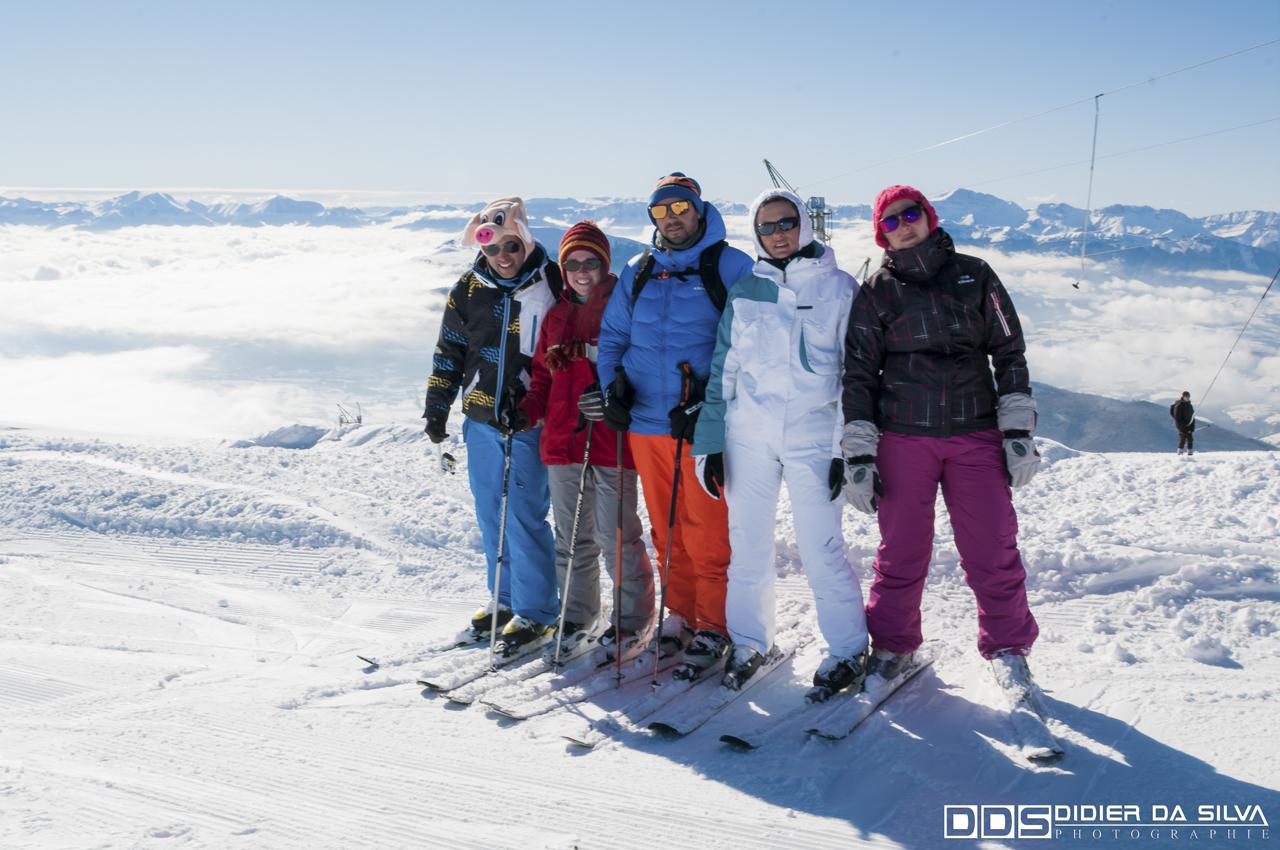 La famille au ski