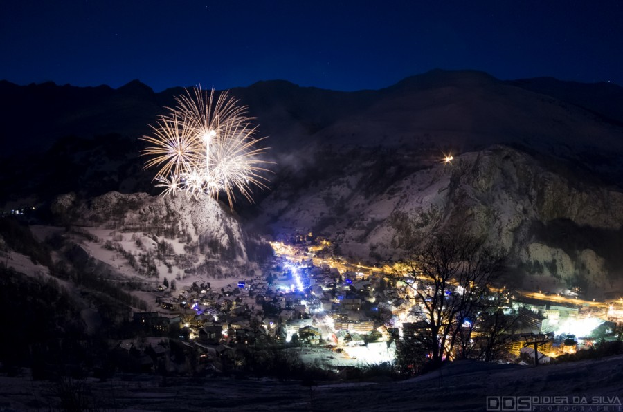 Feu artifice Valloire Galibier