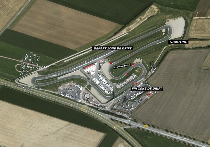 Plan circuit Croix en Ternois championnat de france de drift