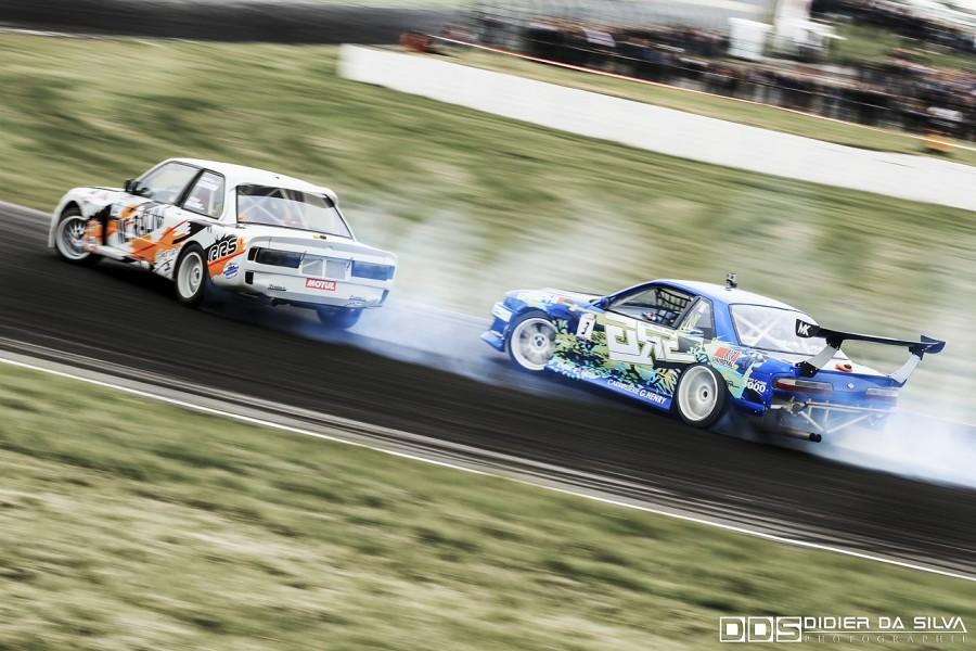 Petite finale entre Nicolas Delorme BMW E30 Vs Mike Kauffmann Nissan PS13