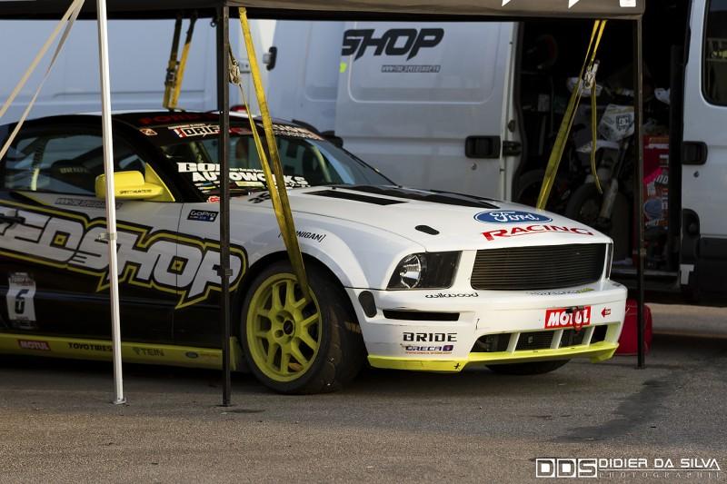 La Ford Mustang de Raff Zanato qui se repose pour une nouvelle jounrée Drift