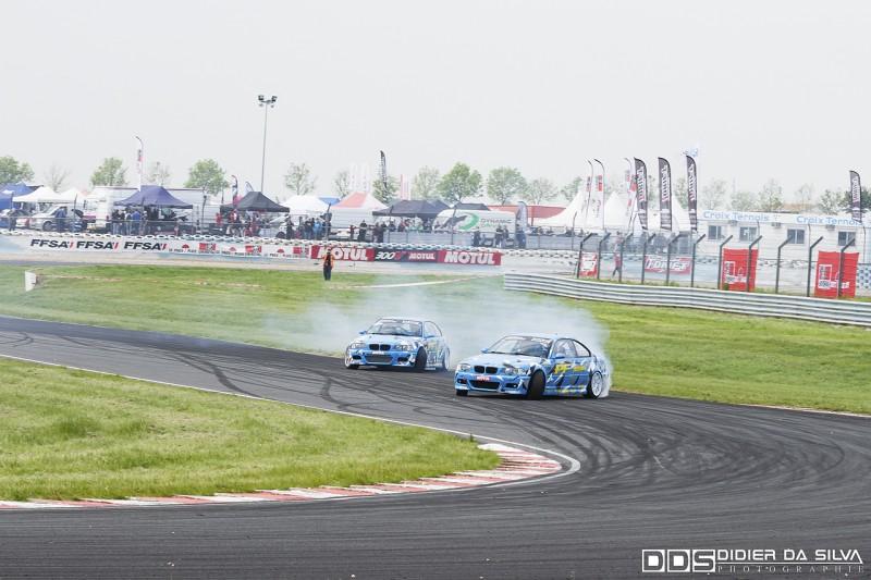 Duel de team entre Philippe Ferreira BMW E46 et Marc Guerreiro BMW E46