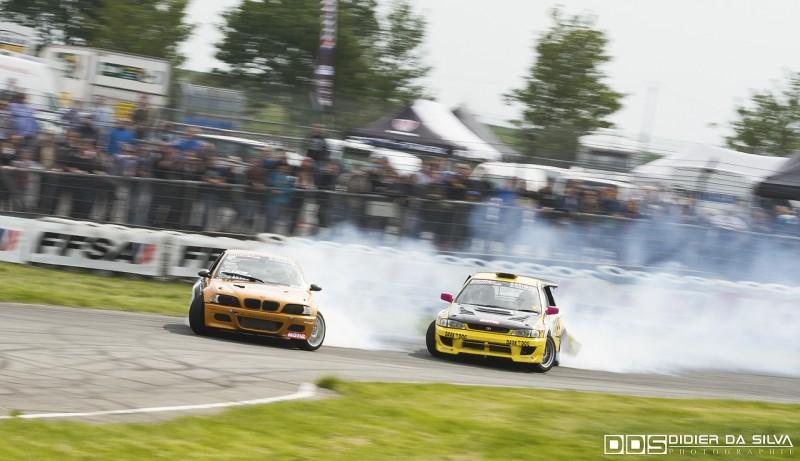 Battle entre Laurent Cousin et sa BMW E46 et Kevin Delhaye en Subaru Impreza