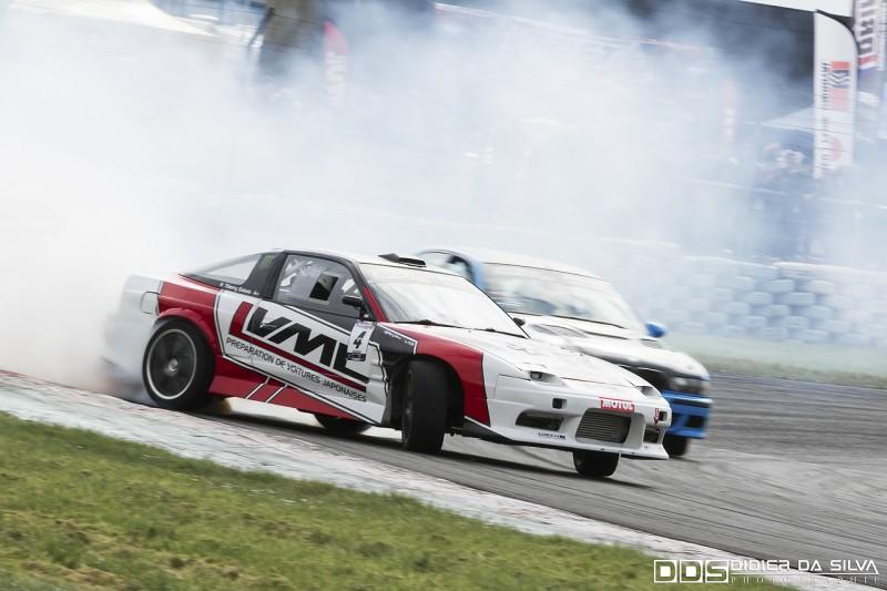 Battle entre Thierry Dubois et sa Nissan RS13 et Franck Lagalice en BMW E39