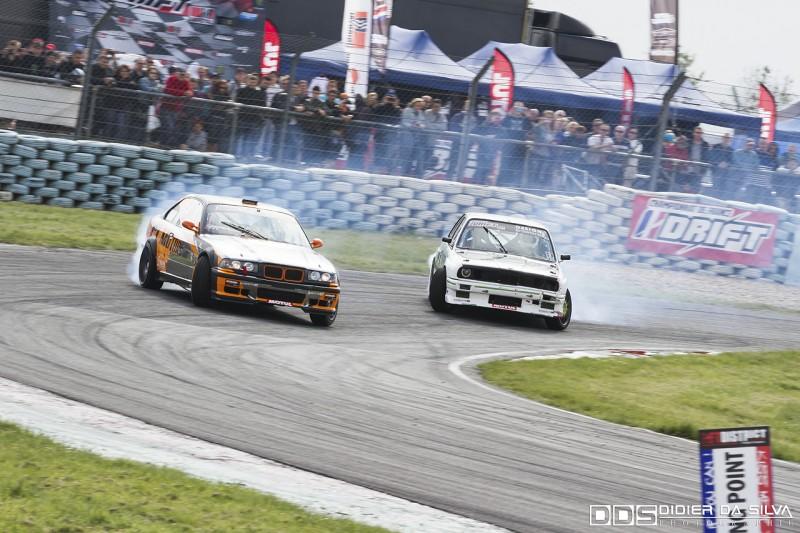 Battle entre Jocelin Janin et sa BMW E36 et Mathieu Leroux en BMW E30