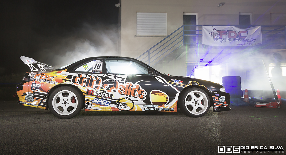 Summer Drift 2014 FDC - David Meunier Nissan 200SX S14