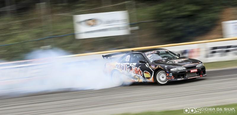Long droite round 5 2014 - David Meunier et sa Nissan 200Sx S14