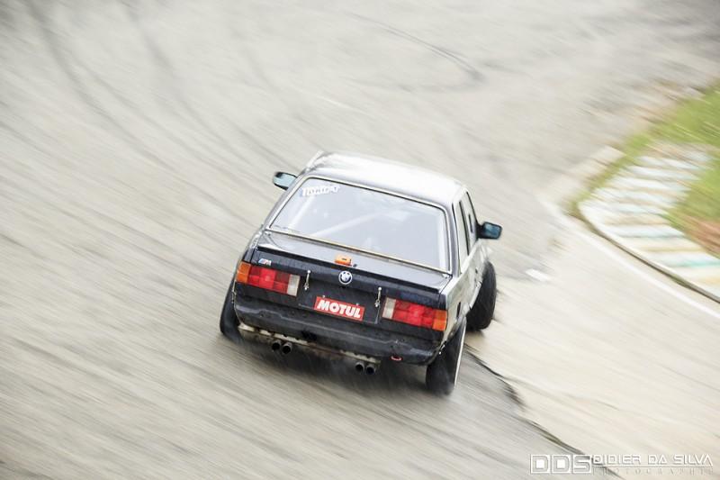 Gary Gallopin dans sa BMW E30
