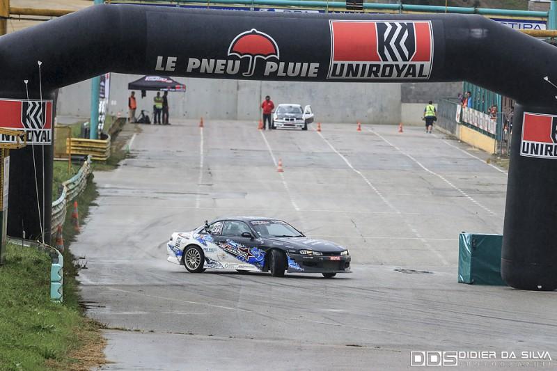 Julien Prévost dans sa Nissan 200Sx S14A