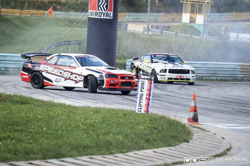 Premier Clipping point round 5 2014 - Nicolas Maunoir Nissan Skyline R34 Vs Raffaele Zanato Ford Mustang