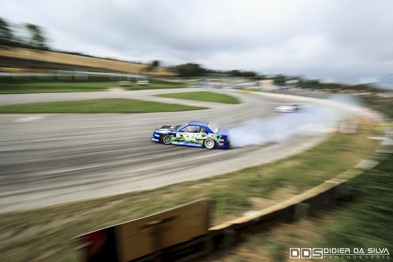 Long droite round 5 2014 - Mike Kauffmann et sa Nissan 200Sx PS13