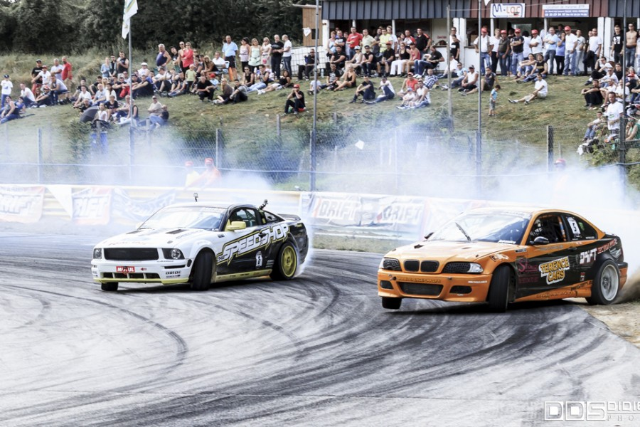 Battle Laurent Cousin BMW E46 Vs Raffaele Zanato Ford Mustang Speedshop - Round 5 CDF 2014