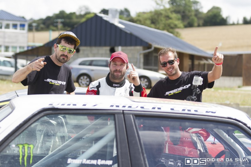 Julien Fébreau avec le Team Speedshop