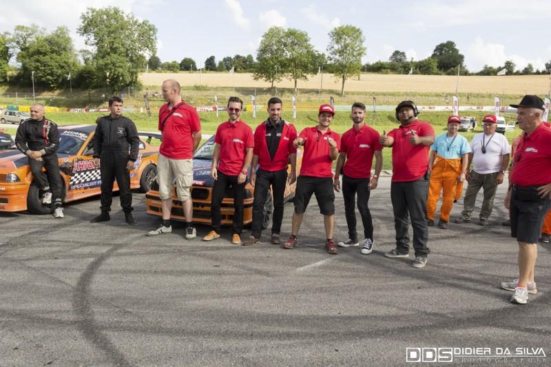 Staff du round 5 au circuit d'Essay championnat de france 2014