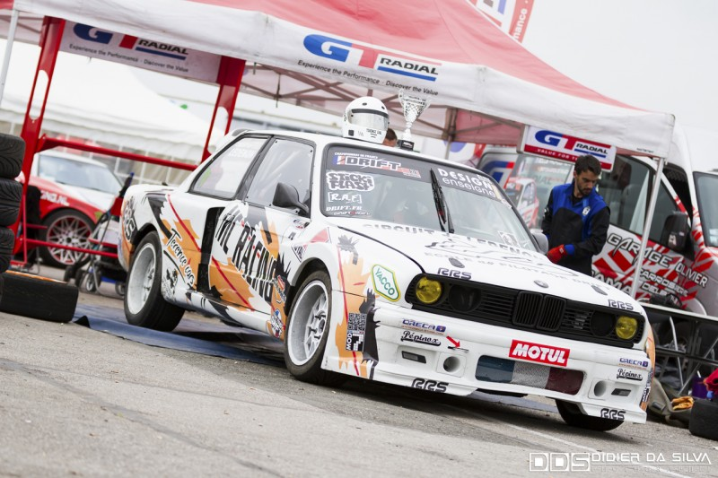 La BMW E30 de Nicolas Delorme après une belle 2ème place