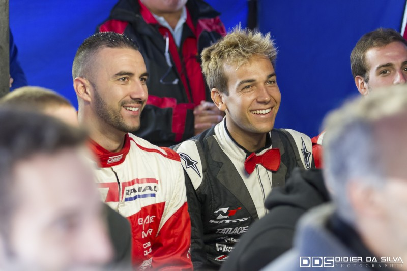 Benjamin Boulbes et Matt Powers au briefing du championnat de france de drift