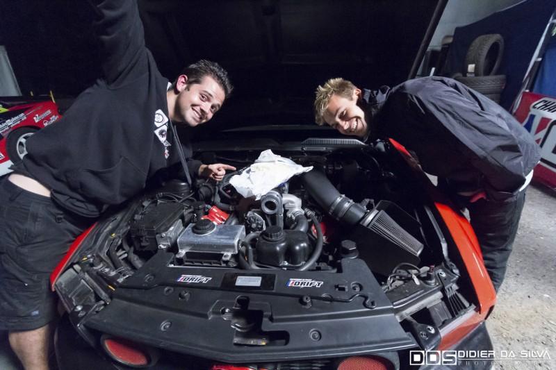 Vincent Givert et Matt Powers fondent le brie sur la Ford Mustang championnat de france 2014