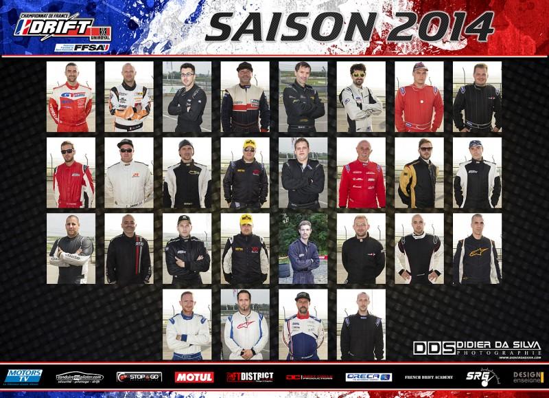 Tombinoscope des pilotes saison 2014 championnat de france